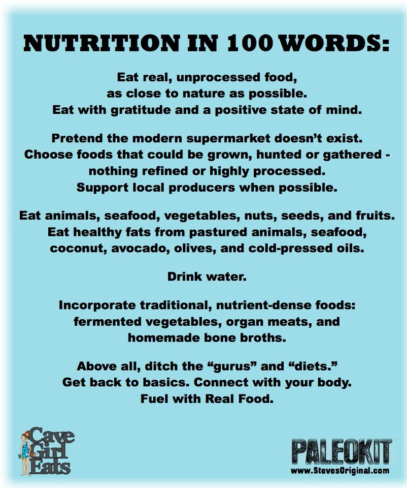 healthy eating made simple nutrition in 100 words brian